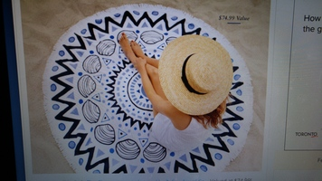 The Chesterman Circle Towel by Tofino Towel Co.