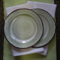 Melamine Snack Plates in Jade