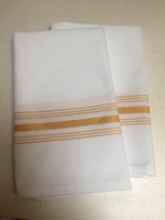 100% Cotton Striped Napkins in Gold