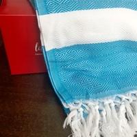 100% Turkish Cotton Beach/Picinic Blanket in Blue