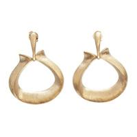 Rivka Friedman Satin Triangle Doorknocker Earrings