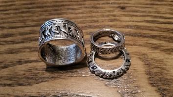Wantable Silver Ring Set