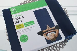 GAIAM Navy foldable yoga mat