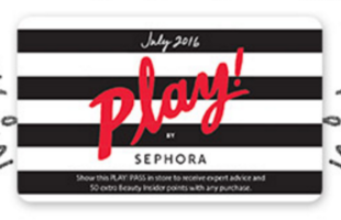 PLAY! PASS from July 2016 Sephora Play
