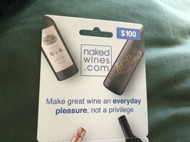 Naked Wines $100 purchase