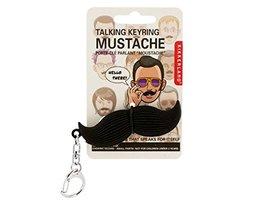 Talking Mustache Keychain by Kikkerland