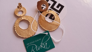 Rivka Friedman Matte Gold Earrings
