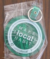 Mercolocal Rubber Keychain