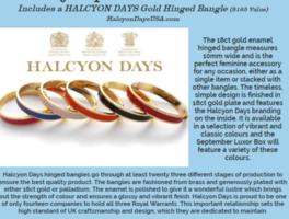 Halcyon Days Gold Hinged Bangle