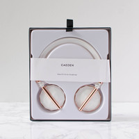 Caeden Ceramic & Rose Gold On-Ear Headphones