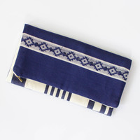 Foldover Clutch by Tribe Alive, India, (Retail $50)