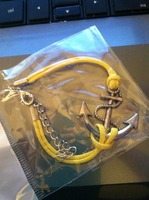 Ebe and Ash Anchor Braclet Yellow