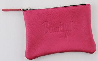 """Jesse & Co Genuine Leather """"Beautiful"""" Pouch"""