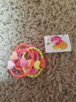 Hair ties with heart beads