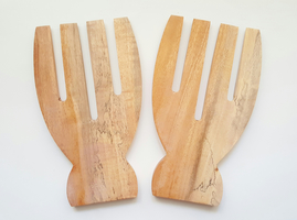 Neem Wood Salad Grabbers