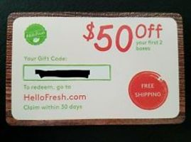 $50 Off Hello Fresh