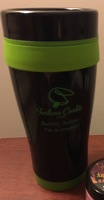 Fortune cookie soap travel mug