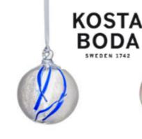 Kosta Boda Contrast Ornament in Blue