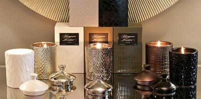 Thompson Ferrier lidded jar Candle