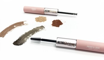 NUTRALUXE RETRO BROW PRIME & EXTEND DUO-MEDIUM/DARK