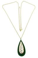 Acrylic Teardrop Necklace (RV$4)