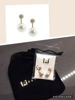 T&J Designs Pave Pearl Ear Jacket Earrings