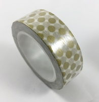 Gold Polka Dots Washi Tape