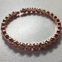 Olive + Piper Classic Crystal Bangle - Rose Gold
