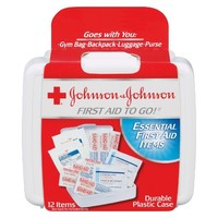 Johnson & Johnson First Aid To Go - 12 items