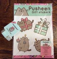 2 Sheets Pusheen Giftwrap & 4 Gift Stickers plus 1 roll Pusheen printed tape