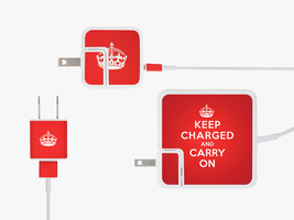 """""""Keep Charged"""" Apple Charger Sticker Set"""