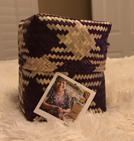 GlobeIn Handwoven Square Basket - Purple