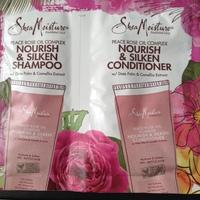 Shea Moisture Nourish & Silken Shampoo & Conditioner
