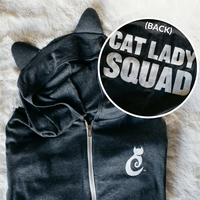 "Cat Ears Hoodie - ""Cat Lady Squad"""