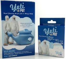 Yeti Pot Neti Pot & 10 Pack Nasal Cleansing Wash