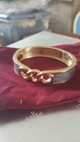 Grey Enamel Hinge Bracelet from LLB