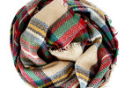 Modcloth blanket Scarf in red and tan