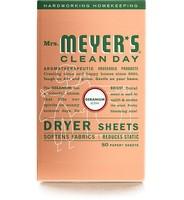 Mrs. Meyer's Clean Day Dryer Sheets - Geranium