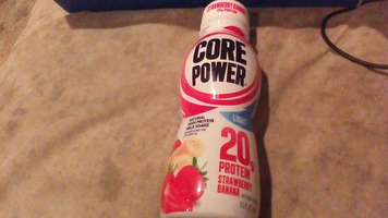 core power 20g protein strawberry banana milk shake drink
