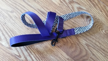 Purple and White/Black Patterned Pet Leash