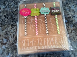 Set of 20 Paper Party Straws