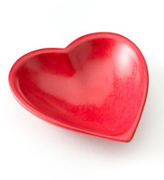 Red Soapstone Heart Dish