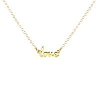 Kris Nation Love Script Necklace