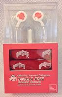 Ohio State Tangle Free Shoelace Earbuds