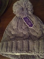 Lavender hat with silver sparkles