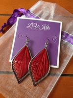 L.V. Kiki red dangle earrings