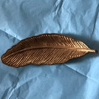 Pewter Feather in Gold