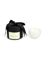 Angel's trumpet scalloped edge candle