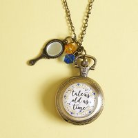 Tale as Old as Time Pocket Watch Necklace