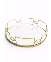 American Atelier Round Mirror Tray from Jay Companies